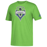 adidas MLS Logo Squad Primary T-Shirt - Men's - Seattle Sounders FC - Light Green