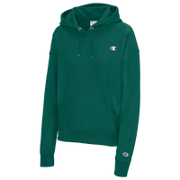 Champion Logo Pullover Hoodie - Women's - Green