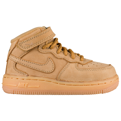 Nike Air Force 1 Mid - Boys\u0027 Toddler - Tan / Tan