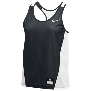 Nike Team Reversible Mesh Tank Pinnie - Women's - Anthracite/White/White