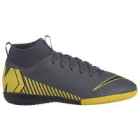 Nike Mercurial SuperflyX 6 Academy IC - Boys' Grade School - Grey / Yellow
