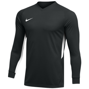 Nike Team Dry Tiempo Premier L/S Jersey - Men's - Black/White