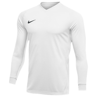 Nike Team Dry Tiempo Premier L/S Jersey - Men's - All White / White