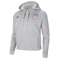 Nike USA Fleece Hoodie - Women's - USA - Grey