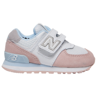 New Balance 574 Classic - Girls' Toddler - White / Multicolor