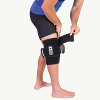 Ice20 Double Knee Ice Compression Wrap - Black / Black