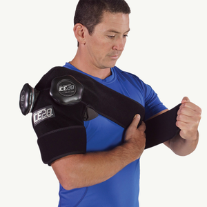 Ice20 Double Shoulder Ice Compression Wrap - Black