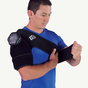 Ice20 Single Shoulder Ice Compression Wrap - Black