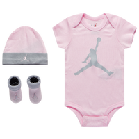 Jordan Jumpman 3 Piece Set - Girls' Infant - Pink / Grey
