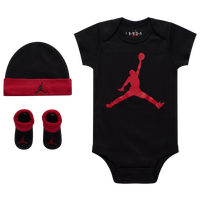 Jordan Jumpman 3 Piece Creeper Set - Girls' Infant - Black / Red