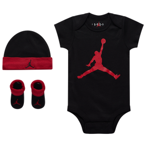 Jordan Jumpman 3 Piece Creeper Set - Girls' Infant - Black/Gym Red