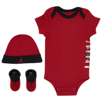 Jordan Air Hat Bodysuit Bootie 3 Piece Set - Boys' Infant - Red