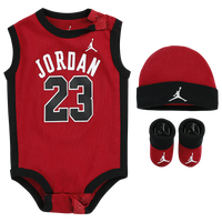 Jordan 23 Jersey Hat Bodysuit Bootie 3 Piece Set - Boys' Infant - Red