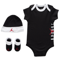 Jordan Air Hat Bodysuit Bootie 3 Piece Set - Boys' Infant - Black