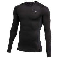 Nike Team Pro L/S Compression Top - Men's - Black
