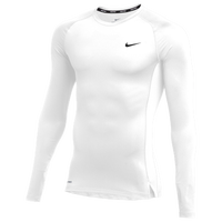 Nike Team Pro L/S Compression Top - Men's - White