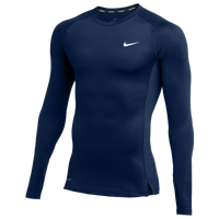 Nike Team Pro L/S Compression Top - Men's - Navy
