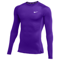 Nike Team Pro L/S Compression Top - Men's - Purple