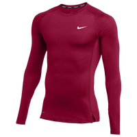 Nike Team Pro L/S Compression Top - Men's - Cardinal