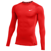 Nike Team Pro L/S Compression Top - Men's - Red