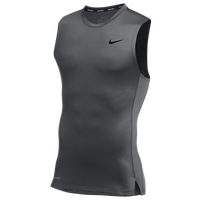 Nike Team Pro S/L Compression Top - Men's - Grey / Grey