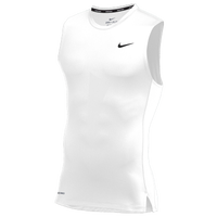 Nike Team Pro S/L Compression Top - Men's - White / White