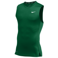 Nike Team Pro S/L Compression Top - Men's - Green / Green