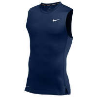 Nike Team Pro S/L Compression Top - Men's - Navy / Navy