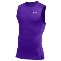 Nike Team Pro S/L Compression Top - Men's - Purple / Purple
