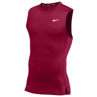 Nike Team Pro S/L Compression Top - Men's - Maroon / Maroon