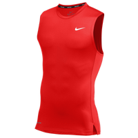 Nike Team Pro S/L Compression Top - Men's - Red