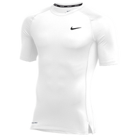 Nike Team Pro S/S Compression Top - Men's - White