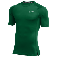 Nike Team Pro S/S Compression Top - Men's - Green / Green