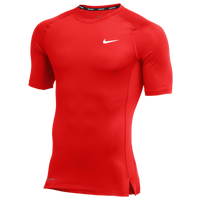 Nike Team Pro S/S Compression Top - Men's - Red / Red