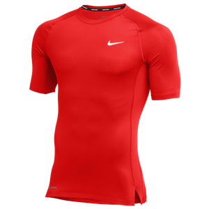 Nike Team Pro S/S Compression Top - Men's - University Red/White