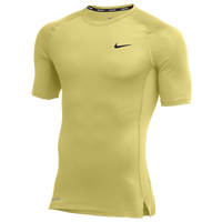 Nike Team Pro S/S Compression Top - Men's - Gold / Gold