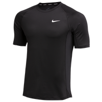 Nike Team Pro S/S Fitted Top - Men's - Black / Black