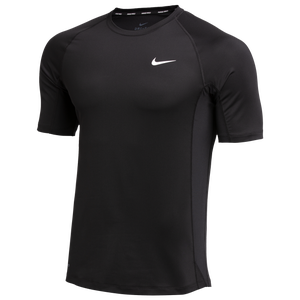 Nike Team Pro S/S Fitted Top - Men's - Black/White