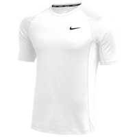 Nike Team Pro S/S Fitted Top - Men's - White