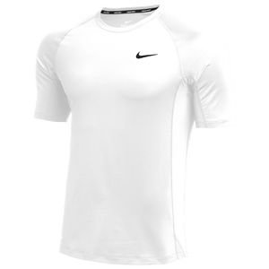 Nike Team Pro S/S Fitted Top - Men's - White/Black