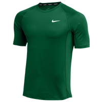 Nike Team Pro S/S Fitted Top - Men's - Green / Green