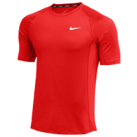 Nike Team Pro S/S Fitted Top - Men's - Red