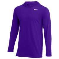 Nike Team L/S Hoodie T-Shirt - Men's - Purple