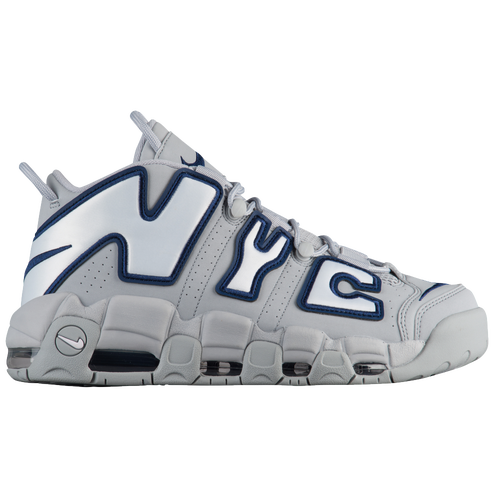 Nike Air More Uptempo City - Men's - Basketball - Shoes - Wolf  Grey/White/Midnight Navy