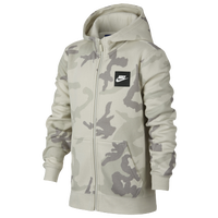 6c1bb2e404 Nike Camo Club Full-Zip Hoodie - Boys  Grade School - Off-White