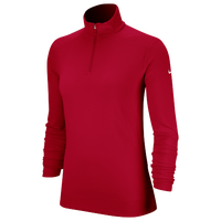 Nike Dri-FIT UV 1/4 Zip Golf Top - Women's - Red