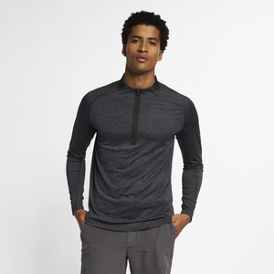 Nike Dry Top Statement Golf 1/2 Zip - Men's - Black/Dark Grey