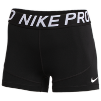 "Nike Team Pro 3"" Shorts - Women's - Black / Black"