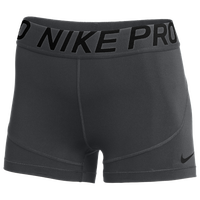 "Nike Team Pro 3"" Shorts - Women's - Grey / Grey"