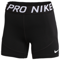 "Nike Team Pro 5"" Shorts - Women's - Black / Black"